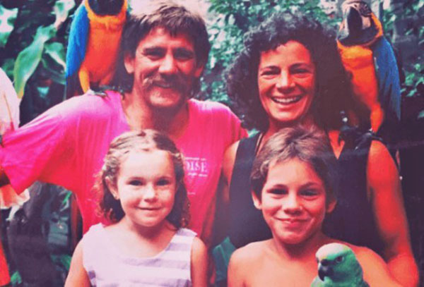Image of Caption: Bonnie Dupree and her first husband Doug Schwiesow with their children