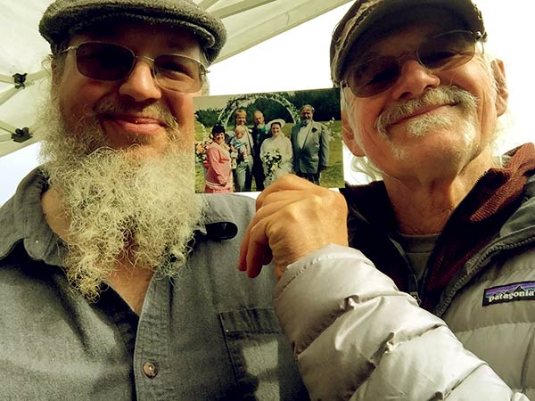 Image of Caption: Atz Kilcher with his son Shane Kilcher