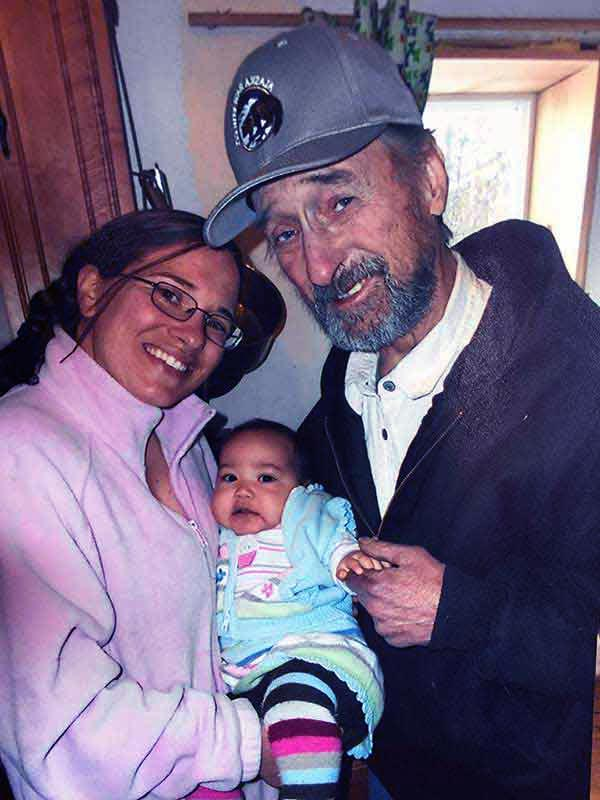 Image of Talicia Harte with his fahter Bob and daughter Carmella