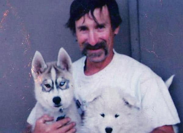 Image of Bob Harte with his dog