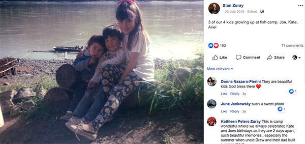 Image of Stan Zuray kids Joey, Kate, and Ariella