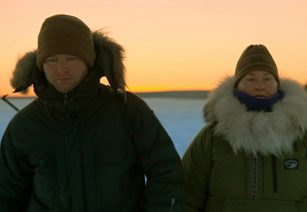Image of Tyler and Ashley from the TV show, The Last Alaskans