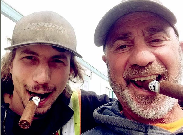 Image of Parker with his crew Chris Doumit from Gold Rush