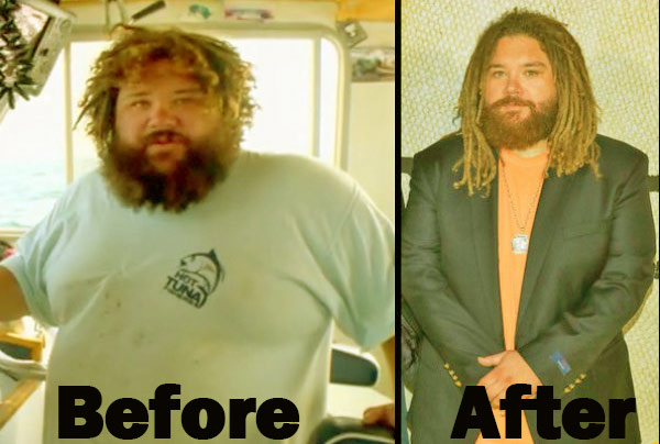 Image of TV personality TJ Ott weight loss before and after