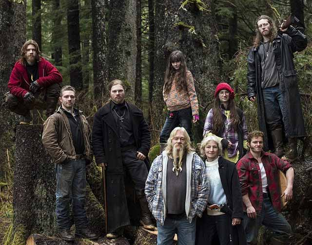 Photo of Alaskan Bush People's Cast, Billy Brown and his family.