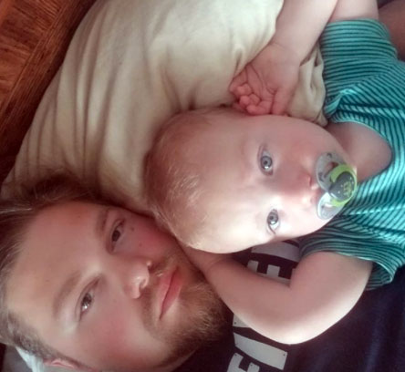 Photo of Alaskan Bush People' cast, Gabe Brown and his son.
