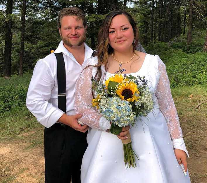 Wedding photo of Gabe Brown and wife, Raquell Rose.