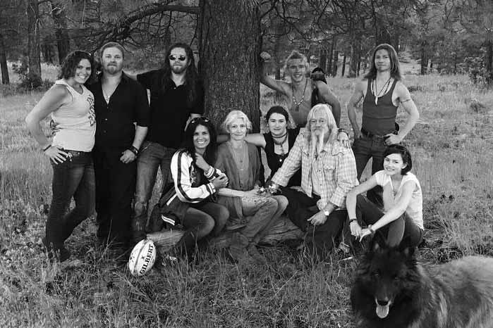 Photo of Rain Brown's family.
